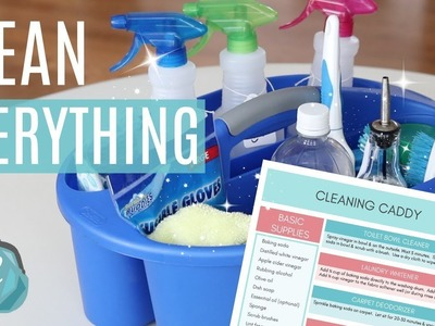 CLEAN YOUR ENTIRE HOUSE WITH DIY CLEANERS! ???? What's in my cleaning caddy?