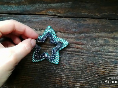 CRAW star: a nice and unexpected idea to get a beaded star - Cubic Right Angle Weave