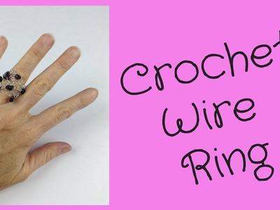 Crochet Wire Ring DIY Jewelry Making Tutorial