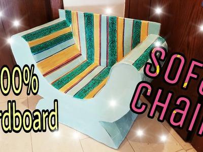 DIY: Cardboard Furniture. Cardboard Chair.Sofa, how to make :