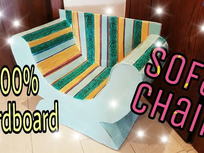 DIY: Cardboard Furniture. Cardboard Chair.Sofa, how to make :