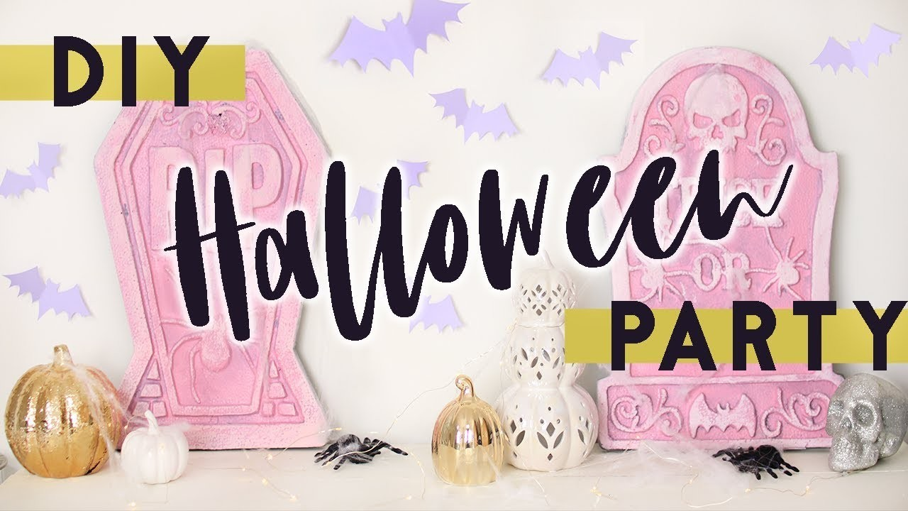 DIY Halloween Party on a Budget! EASY DIY Halloween Party Decorations and Treats for 2017