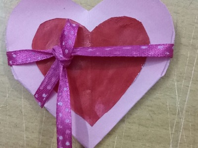 DIY| How to make simple Heart shaped fold card.