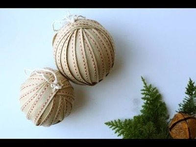 DIY Vintage Ribbon Christmas Ornaments Tutorial