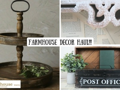 FARMHOUSE DECOR HAUL | GIVEAWAY