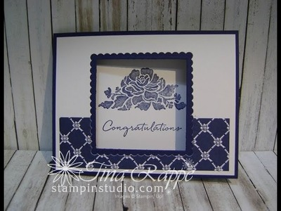 Floral Phrases Window Card