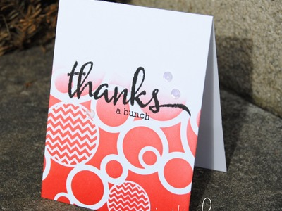 FREE CLASS - Distress Inks 101: Stencils and Things Card 2