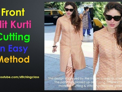 Front Slit Kurti Cutting in very Easy Steps