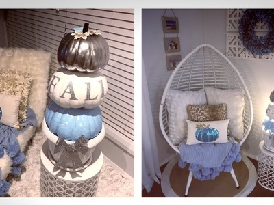 GLAM FALL HOME DECOR -DIY PUMPKIN STACK