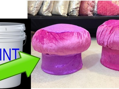 Have you ever think about this idea to Make an ottoman by using recycled materials.