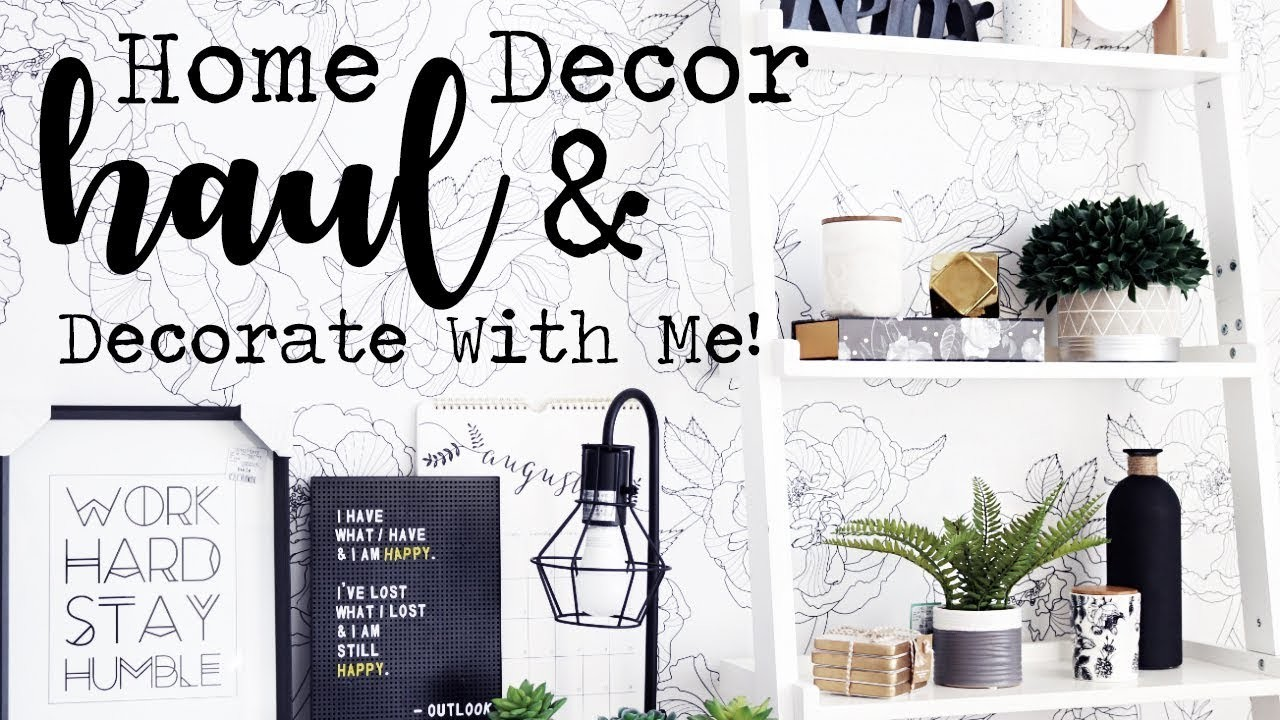 Home Decor Haul Decorate With Me Homesense B Bw
