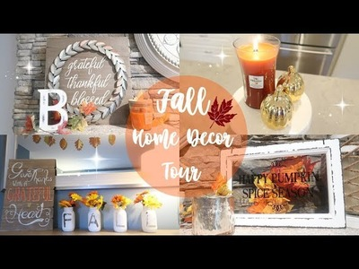 HOME TOUR 2017. FALL HOME DECOR TOUR PART 1. BEAUTY AND THE BEASTONS
