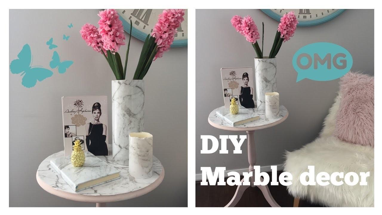 HOW TO : 4 MARBLE HOME DECOR DIYS