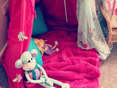 How to build a pretty, girly den & reading corner  AD