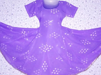 How to cut and stitch full Gher  Anarkali suit
