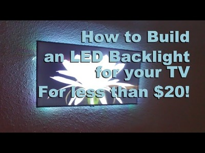 How To Install LED Backlight Behind TV | HomeSteadHow.com
