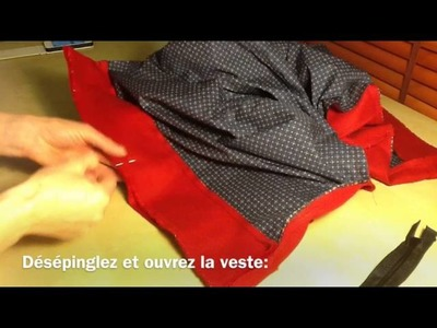 How to line a jacket 2