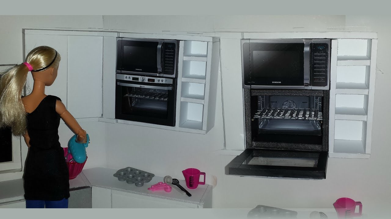 How to make a Doll Oven and Microwave