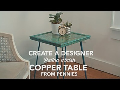 How to Make a Faux Oxidized Penny Table - HGTV
