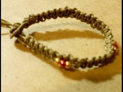 How to make a square knot hemp Bracelet