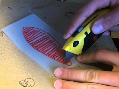 How to make a stencil for painting your homemade lure