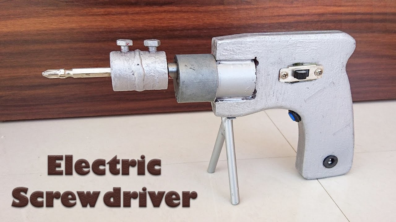 How to Make an Electric Screwdriver at Home