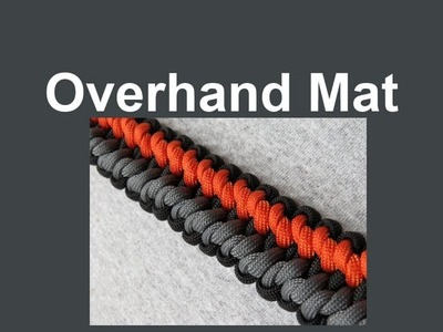 How to make an Overhand Mat Paracord Bracelet Tutorial (Paracord 101)