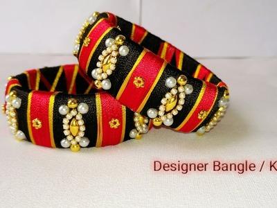 How To Make Designer Bangles. Silk Thread Jewellery. Silk Thread Bangle Making Tutorial at home