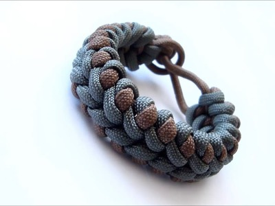 """How to make """"Scales Crossing"""" paracord bracelet without buckle"""