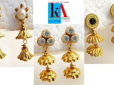 How to Make simple and easy Earrings    Small size designer Earrings for daily use.