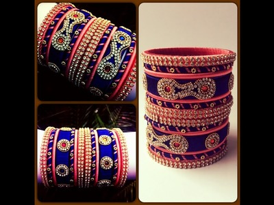 How to make simple silk thread bangles set easily @ home