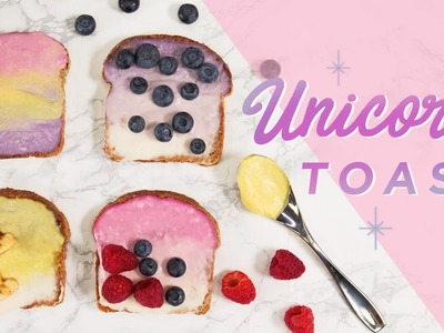 How to Make Unicorn Toast (Vegan)   CHEAP CLEAN EATS