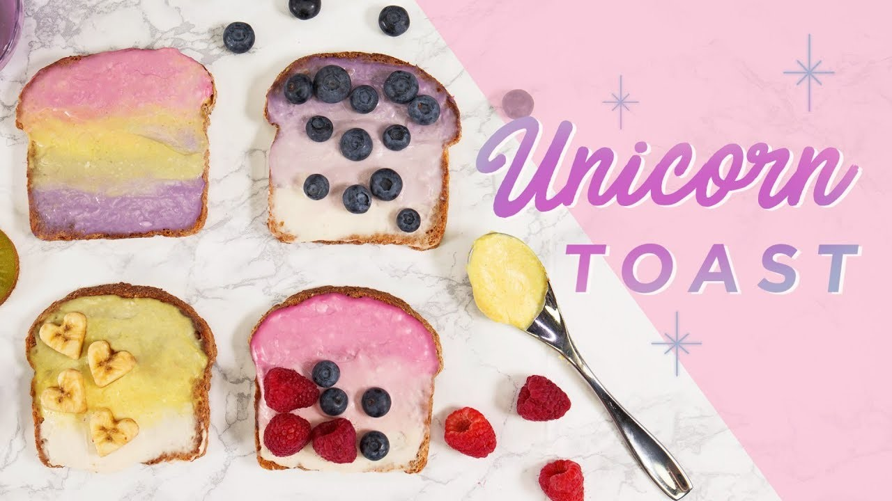 How to Make Unicorn Toast (Vegan) | CHEAP CLEAN EATS
