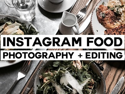 How To: Minimal Food Photography + Editing. Instagram Series