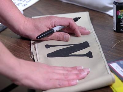 How to Paint Pillows and Pillow Wraps - Carolina Pottery