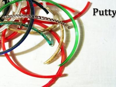 How to reuse old broken bangles | Silk thread bangles with broken bangles