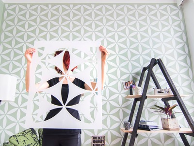 How to stencil a feature wall | Part 1