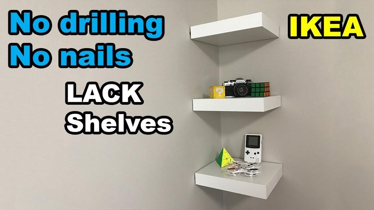 Ikea Lack Shelf No Drilling No Nails On Wall