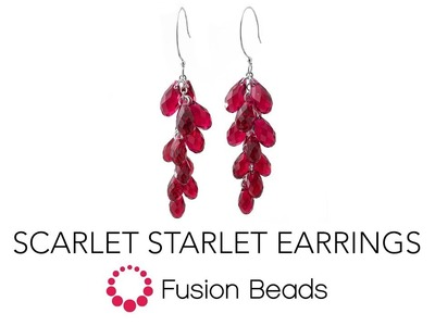 Learn How to Make the Scarlet Starlet Earrings