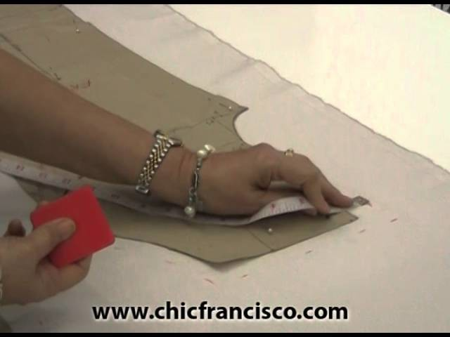 Lesson 4A- 8 How to Lay, Pin, Mark and Cut the Fabric for the Front & Back Parts of the Pants