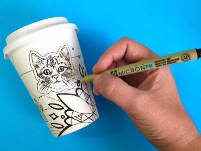 ???? LIVE: Coffee Cup Art Challenge - Drawing Your Suggestions!
