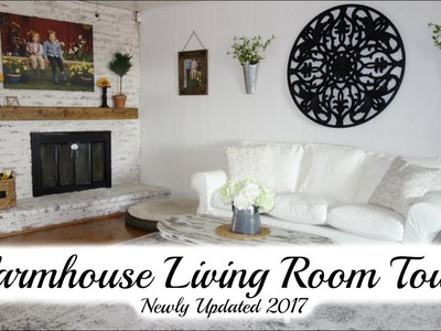LIVING ROOM TOUR 2017 | FARMHOUSE STYLE MAKEOVER | MOMMA FROM SCRATCH