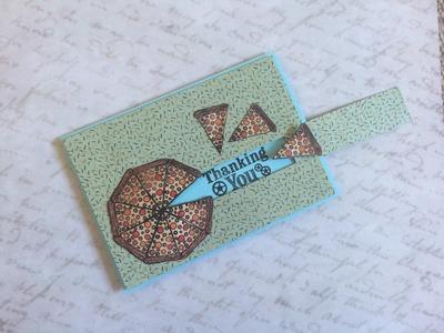 巧。手做卡片(Make Cards with Chiao)-披薩移動感謝卡教學(Sliding Pizza Thanks Card Tutorial)