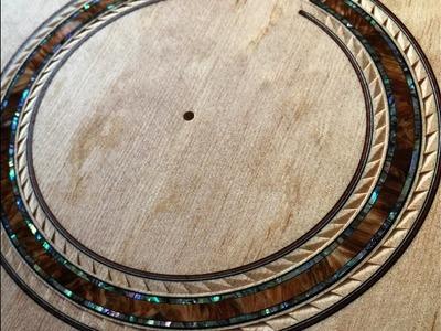 Making a hand caved rosette with a wooden ring.Ryosuke Kobayashi Guitars