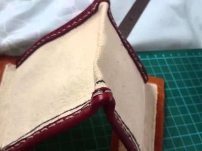 Making a men's clutch in canvas and leather. Part 3 - the zipper.