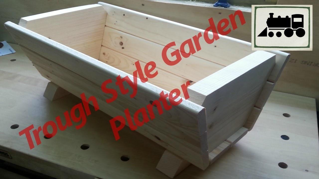 Making a Trough Style Garden Planter