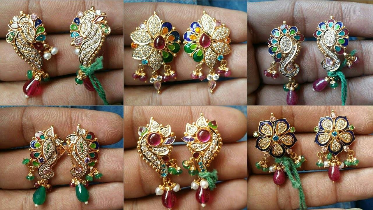 New Earrings Design, Latest Tops Design, Little Earrings Design ...