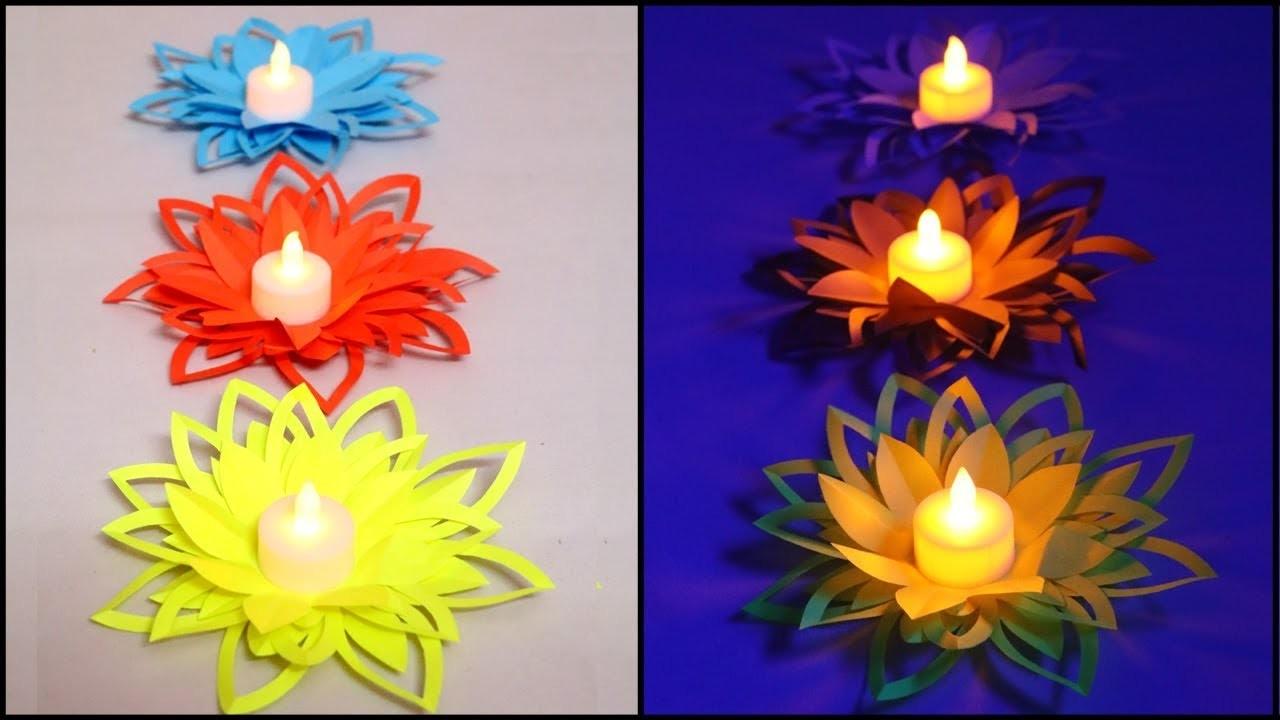 Paper Flower Diya Decoration