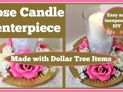Rose Candle Centerpiece Perfect for Wedding and Special Occasions