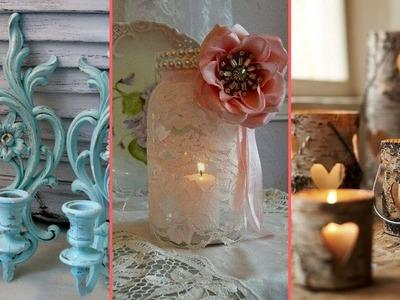 ❤ Rustic & Shabby chic Candle holder decor ideas | Interior design & Home Decor| Flamingo mango ❤